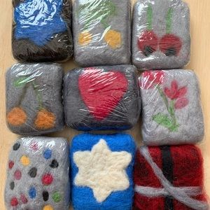 9 Hand made felt soaps
